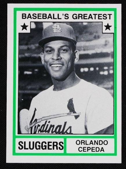 11: Vintage Baseball Card '83 TCMA Orlando Cepeda C121