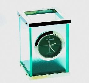 """14: Helbros Small Table Clock 3"""" with box H5"""
