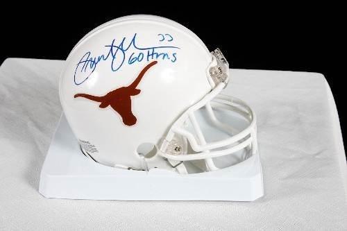 15: Priest Holmes Autographed Texas Mini Helmet
