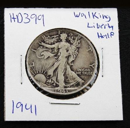 22: 1941 Walking Liberty Silver Dollar HD399