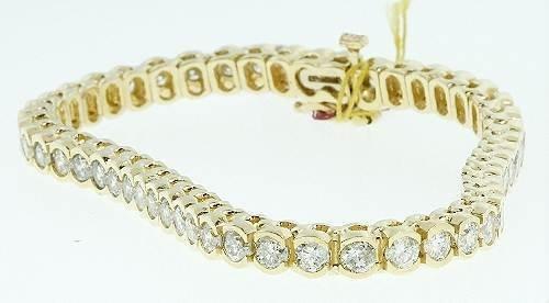 23: Yellow Gold / Diamond Tennis Bracelet 6.64ctw - BD6