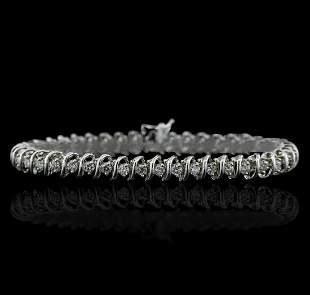 14KT White Gold 3.37 ctw Diamond Tennis Bracelet