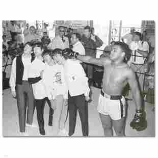 """""""Muhammad Ali Punching The Beatles"""" Licensed Photograph"""