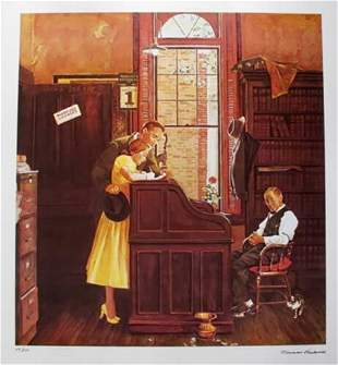 "Norman Rockwell ""Marriage Contract"""