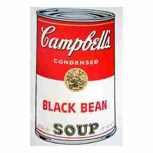 "Andy Warhol ""Soup Can 11.44 (Black Bean)"" Silk Screen"