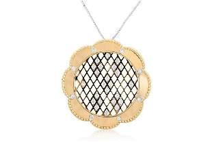 14k Yellow Gold 0.74CTW Diamond Pendant,