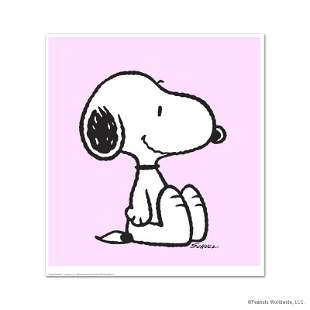 """Peanuts, """"Snoopy: Pink"""" Hand Numbered Limited Edition"""