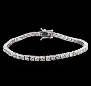 14KT White Gold 4.49 ctw Diamond Tennis Bracelet