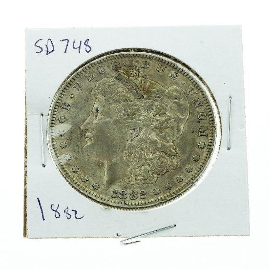 4: 1882 Morgan Silver Dollar VG+ SD748
