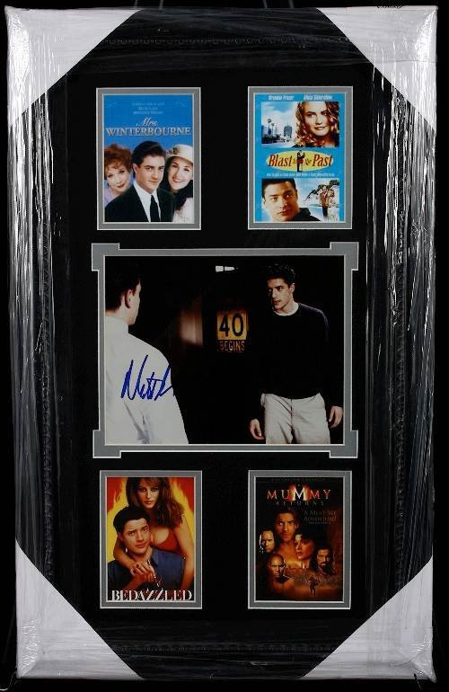 9: Brendan Fraser Autographed Movie Photo Collage