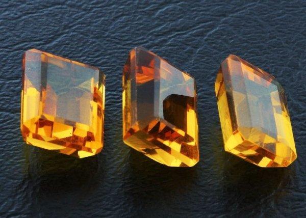 11: Citrine Parcel 3 Gemstones 37.53ctw DK311