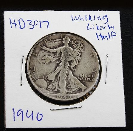 14: 1940 Walking Liberty Silver Dollar HD397