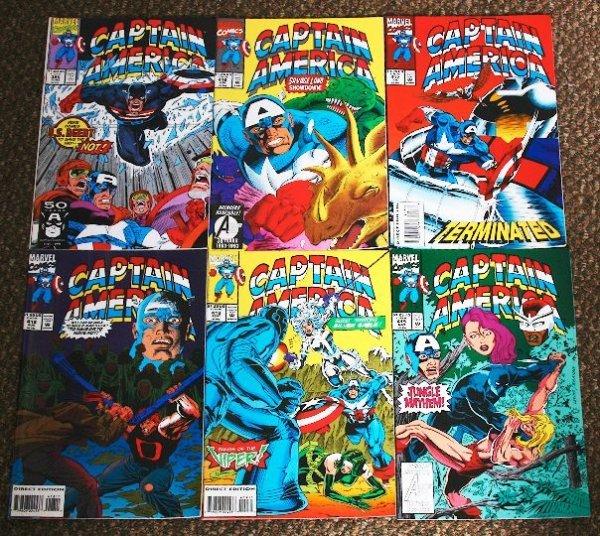 19: Captain America Vintage Comic Books Lot of (6) CB72
