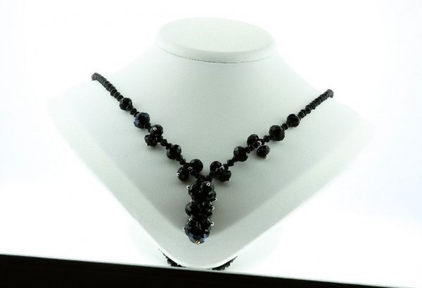 21: Beautiful Black Crystal Necklace CN7