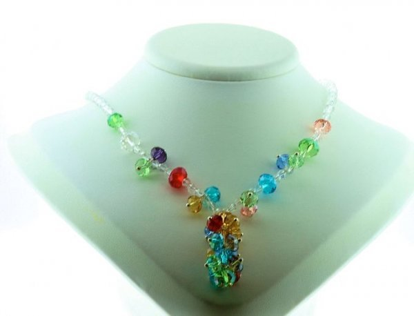 2: Beautiful Multi-Colored Crystal Necklace CN2