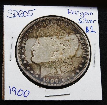 5: 1900 Morgan Silver Dollar SH605