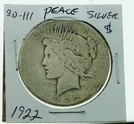 7: 1922 Peace Silver Dollar SD111