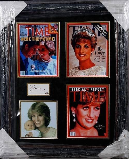 10: Princess Diana Autographed Photo Display