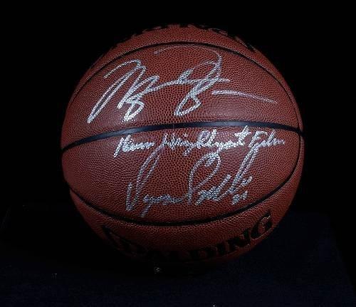 16: Michael Jordan & Dominique Wilkins Autographed Bask