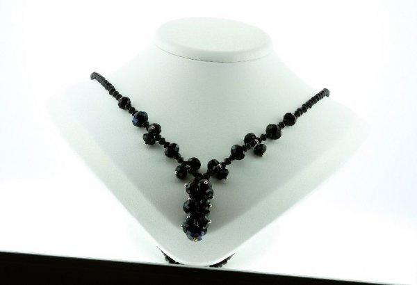 20: Beautiful Black Crystal Necklace CN7