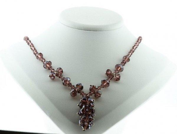 25: Beautiful Lavendar Crystal Necklace CN5
