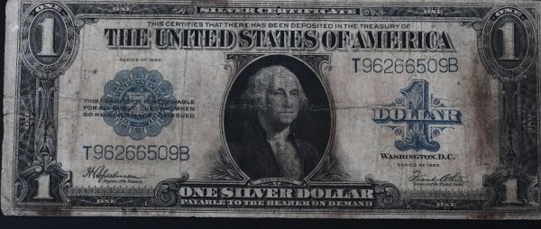 27: 1923 Washington $1 Silver Certificate Bill PM54