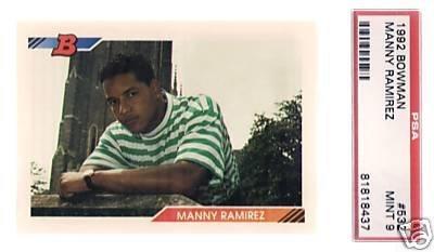 29: Manny Ramirez 1992 Rookie Baseball Card PSA 9