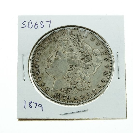 1: 1879 Morgan Silver Dollar VG+ SD687