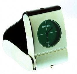 """14: Helbros Small Table Clock 3"""" with box H4"""