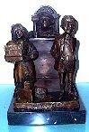 34: Charles Bragg - Divorce Court - Bronze Sculpture (B