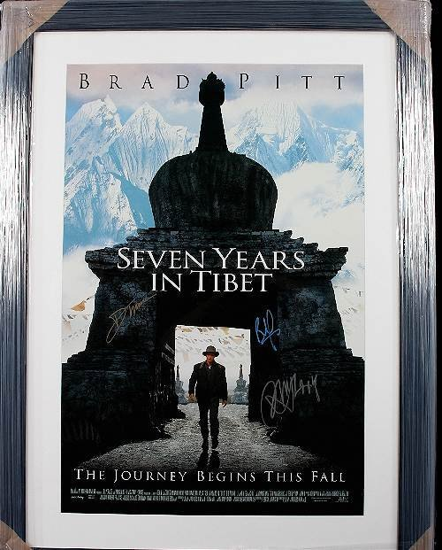 347: Seven Years in Tibet Autographed Movie Poster