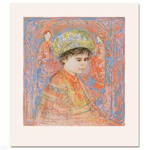 """""""Boy with Turban"""" Limited Edition Lithograph by Edna"""
