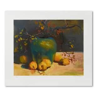"""S. Burkett Kaiser, """"Green Vase with Lemons"""" Limited"""