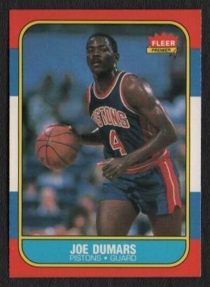 58: 1986 Fleer Joe Dumars Rookie Basketball Card