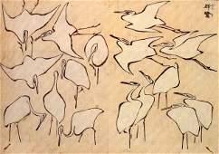 Hokusai - Cranes