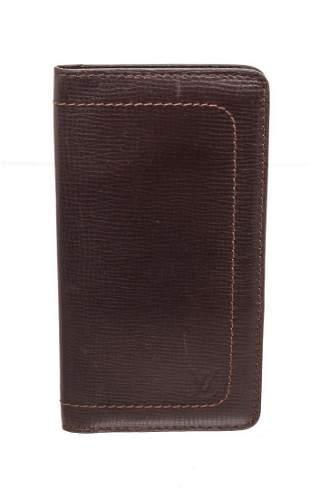Louis Vuitton Utah Brown Leather Long Card Wallet