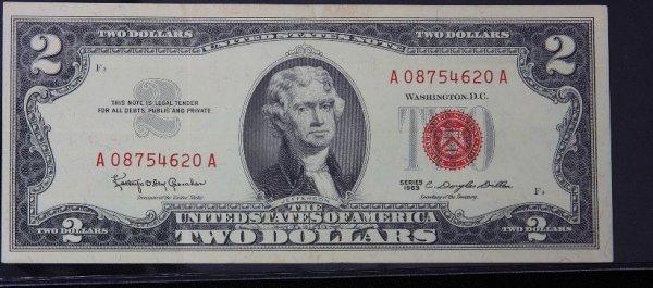 5: 1963 $2.00 Jefferson Red Seal Bill PM517
