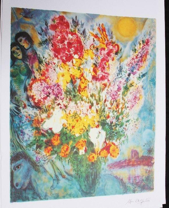 9: Marc Chagall - Bouquet de Fluers Print