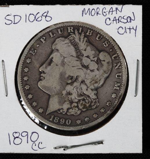 17: 1890-CC Carson City Morgan Silver Dollar SD1068