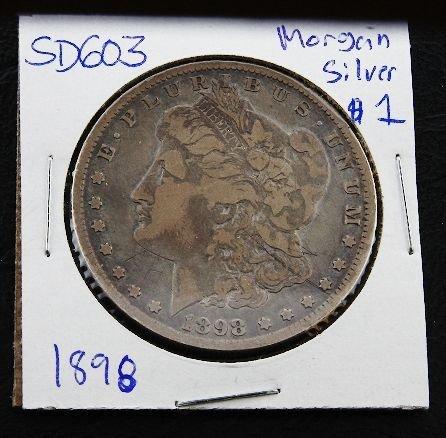 20: 1898 Morgan Silver Dollar SH603