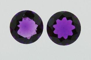 21: Amethyst Parcel 2 Gemstones 22.09cts DL34