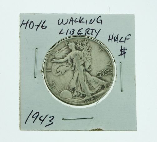 22: 1943 Walking Liberty Half Dollar HD16