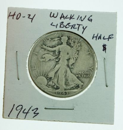 30: 1943 Walking Liberty Half Dollar HD21
