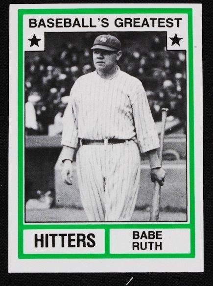 31: Vintage Baseball Card '83 TCMA Babe Ruth C102