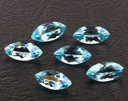 32: Blue Topaz Parcel 6 Gemstones 12.55ctw DK412