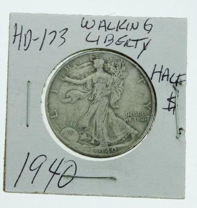 33: 1940 Walking Liberty Half Dollar HD173