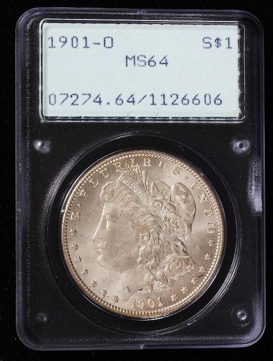 34: 1901-O Morgan Silver Dollar PCGS MS64 SCE151