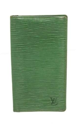 Louis Vuitton Green Epi Leather Long Card Wallet
