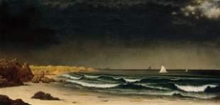 Martin Johnson Heade - Approaching Storm on Beach Near