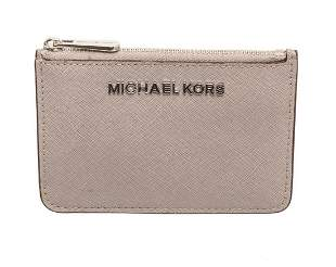 Michael Kors Grey Leather Jet Set Small Keychain Wallet